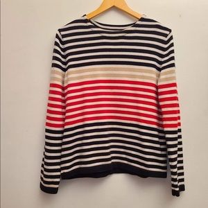 Sag Harbor Knitted Stripes Sweater